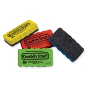 Creativity Street Magnetic Erasers, 4.25 inch x 2.25 inch , Assorted Colors, 4 Pieces per pack, bundle of 3... by