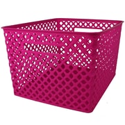 Romanoff Woven Basket, Large, Hot Pink, 1 Each (ROM74207)