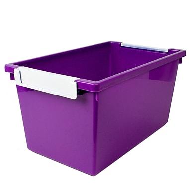 Romanoff Tattle™ Tray with Label Holder, 5 Qt., Purple, Set of 3 (ROM53406)