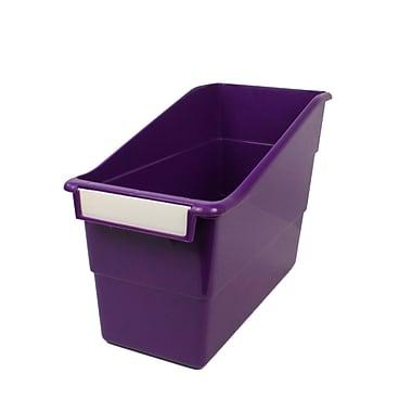 Romanoff Shelf File with Label Holder, Standard, Purple, Set of 3 (ROM77206)