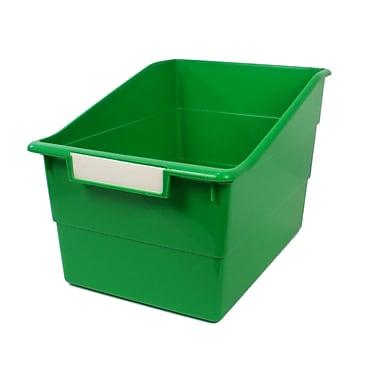 Romanoff Shelf File with Label Holder, Wide, Green, 3/Set (ROM77305)