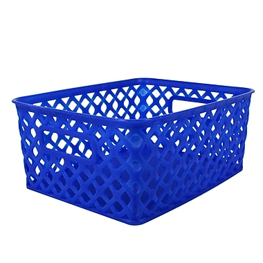 Romanoff Woven Basket, Small, Blue, 3/Set (ROM74004)