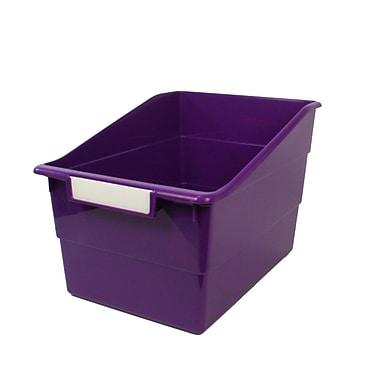 Romanoff Shelf File with Label Holder, Wide, Purple, 3/Set (ROM77306)