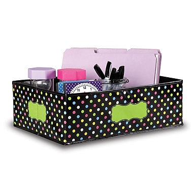 Teacher Created Resources Chalkboard Brights Storage Bins, Medium (TCR20765)