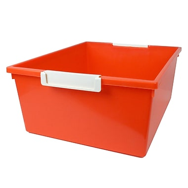 Romanoff Tattle™ Tray with Label Holder, Orange, 12QT., 3/Set (ROM53609)