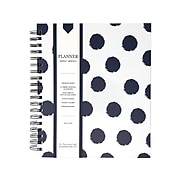 "Undated Kahootie Co. 8"" x 10"" Planner, It's That Kinda Day, Navy Polka Dots (ITKLWNPD-H)"