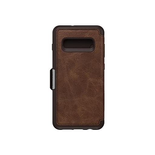buy popular fdbc7 74b5b OtterBox Strada Espresso Credit Card Case for Samsung Galaxy S10+ (77-61483)