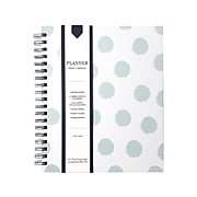"""Undated Kahootie Co. 8"""" x 10"""" Planner, It's That Kinda Day, Teal Polka Dots (ITKLWTPD-H)"""