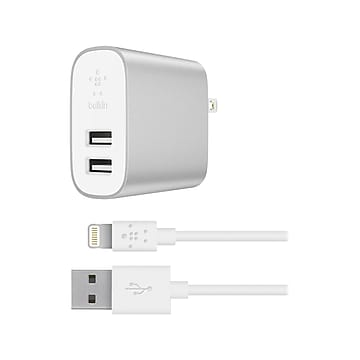 Belkin BOOST?CHARGE Lightning Charging Kit for iPhone/iPad/iPod Touch, Silver (F8J230dq04-SLV)