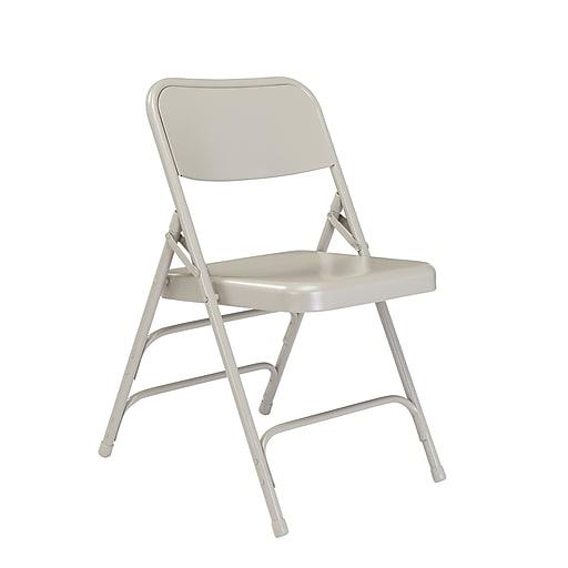 Fine Nps 302 Premium All Steel Brace Double Hinge Folding Chairs Grey Grey 4 Pack Dailytribune Chair Design For Home Dailytribuneorg