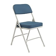 """NPS #3215 2"""" Fabric Padded Folding Chairs, Regal Blue/Grey - 2 Pack"""