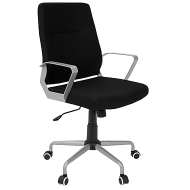 Lumisource Zip Contemporary Fabric Office Chair, Black/Grey (OFC-ZIP GY+BK)