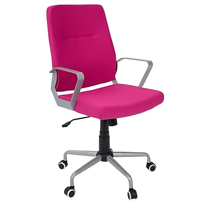 Lumisource Zip Contemporary Fabric Office Chair, Hot Pink/Gray (OFC-ZIP GY+HP)