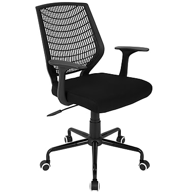 Lumisource Network Contemporary Height-Adjustable Office Chair with Swivel, Black/Black (OFC-NET BK+BK)