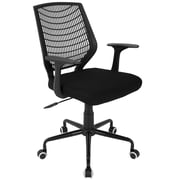 Lumisource Network Adjustable Fabric Office Chair, Black/Black (OFC-NET BK+BK)