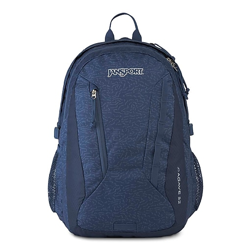 JanSport Agave Backpack, Navy Topo Maze (JS00T14F5V8)