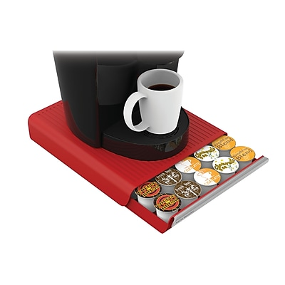 Mind Reader 'Coupe' 30 Capacity Coffee Pod Drawer, Red (TRY30-RED)