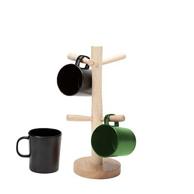 Mind Reader Wood Mug Holder, Holds 6 (W6MUGTREE-BRN)