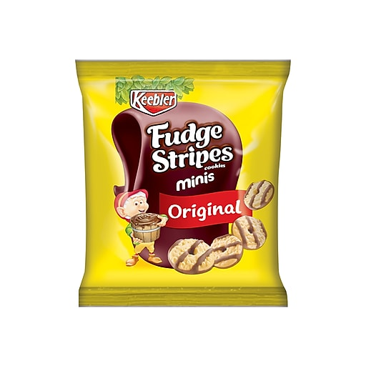 Keebler Mini Fudge Stripes Cookies, Chocolate, 2 oz., 8/Box (21772)