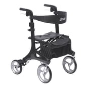 Drive Medical Nitro Elite CF Carbon Fiber Walker Rollator, Black