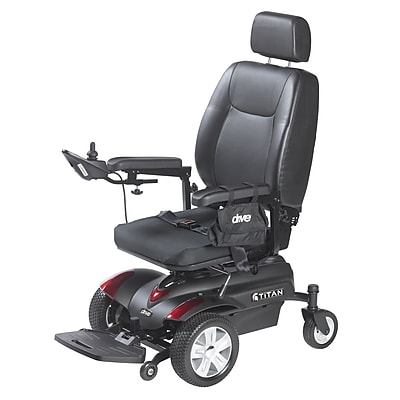 Drive Medical Titan Front Wheel Power Wheelchair, Pan Seat, 18