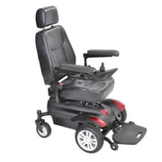 """Drive Medical Titan Transportable Front Wheel Power Wheelchair, Full Back Captain's Seat, 16"""" x 16"""""""