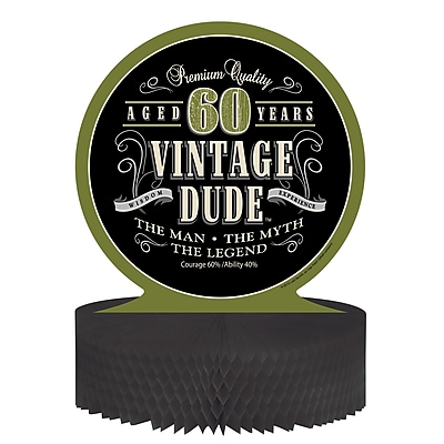 Creative Converting Vintage Dude 60th Birthday Centerpiece (261667)
