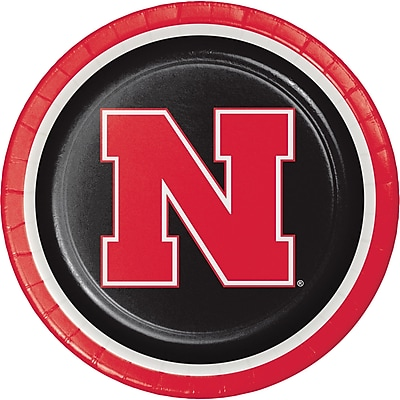 Creative Converting University of Nebraska Paper Plates 8 pk (429853)