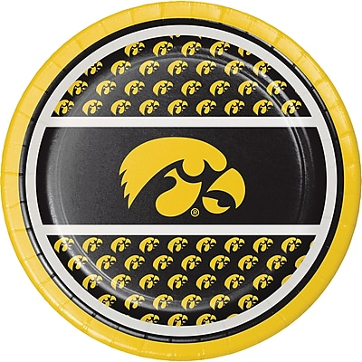 Creative Converting University of Iowa Dessert Plates 8 pk (419900)