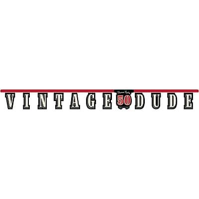 Creative Converting Vintage Dude 50th Birthday Banner (291567)