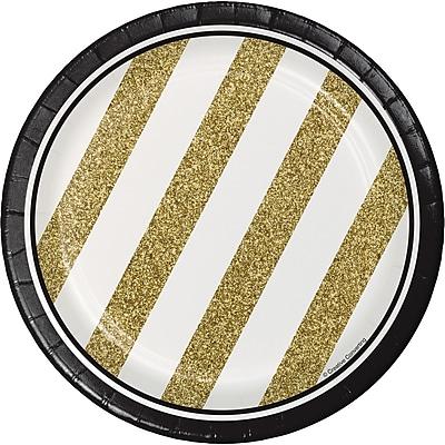 Creative Converting Black and Gold Dessert Plates 8 pk (317547)