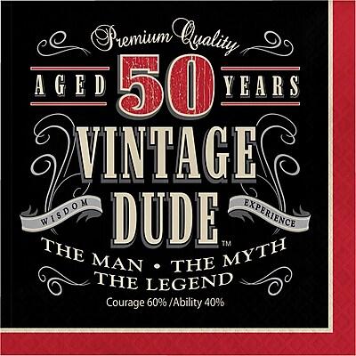 Creative Converting Vintage Dude 50th Birthday Napkins 16 pk (661567)