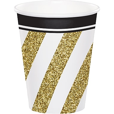 Creative Converting Black and Gold Cups 8 pk (317549)