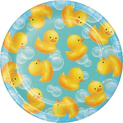 Creative Converting Rubber Duck Bubble Bath Dessert Plates 8 pk (417058)