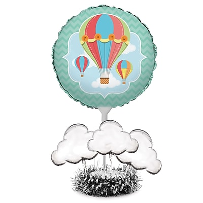 Creative Converting Up, Up, and Away Hot Air Balloon Centerpiece Kit (315333)