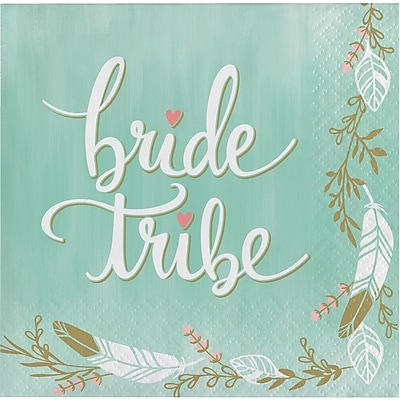 Creative Converting Mint To Be Beverage Napkins, Bride Tribe 16 pk (325100)