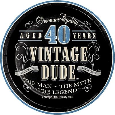 Creative Converting Vintage Dude 40th Birthday Dessert Plates 8 pk (414067)