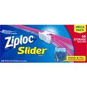 Ziploc Slider Storage Bags, 1 Gallon, 68/Carton (SCJ651305)