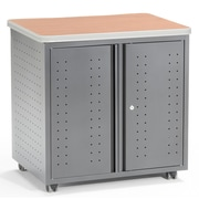 OFM Mesa Series Wheeled Locking Mobile Utility Station Cabinet with Laminate Top, Maple (66746-MPL)