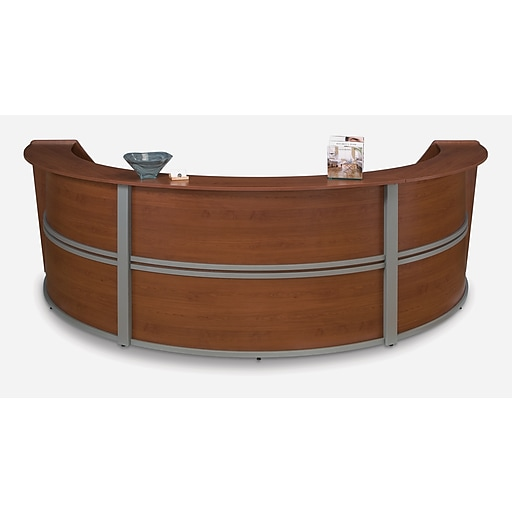 OFM Core Collection Marque Series Triple-Unit Reception Station, in Cherry (55293-CHY)