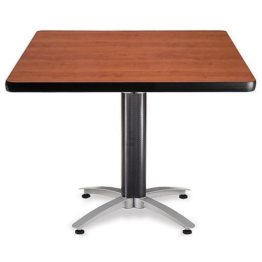 "OFM Multi-Purpose Table with Metal Mesh Base, 42""D x 42""W, Gray Nebula (KMT42SQ-GRYNB)"
