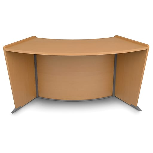 OFM Core Collection Marque Series ADA & Wheelchair Accessible Curved Reception Station, in Maple (55490-MPL)