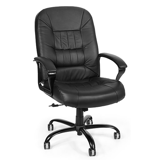 OFM Leather Big and Tall Executive Office Chair, Black (800-L)