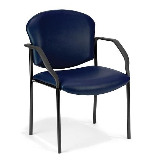 OFM Model 404-VAM Vinyl Reception Sets Chair, Navy (404-VAM-605)