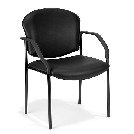 OFM Model 404-VAM Vinyl Reception Sets Chair, Black (404-VAM-606)