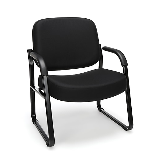 OFM Core Collection Big and Tall Guest and Reception Chair with Arms, in Black (407-805)