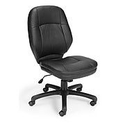 OFM Stimulus Series Faux Leather Executive Chair, Black (521-LX-T)
