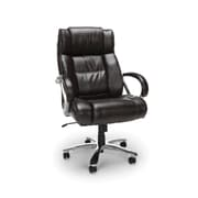 OFM Avenger Series Big and Tall Executive High Back Chair, Leather, Brown (810-LX-BRN)