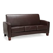 """Essentials by OFM 70.25""""W Traditional Reception Sofa, Leather Upholstery, Brown (ESS-9052-BRN)"""