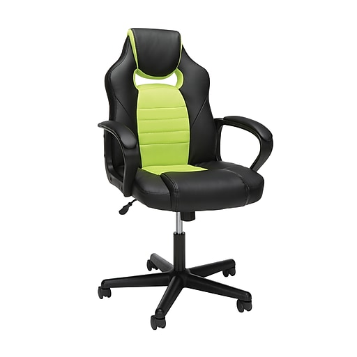 Essentials By Ofm Racing Style Gaming Chair Green Ess